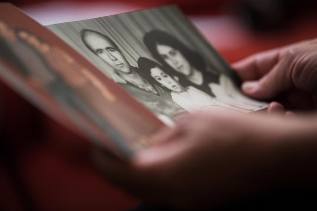 """Samar, wife of Fa'eq al-Mir, holding a family photograph at her home in Istanbul, Turkey. Fa'eq al-Mir(also known as Fa'eq Ali Asa'd) is long-term political activist and a leading member of the Syrian Democratic People's Party. Fa'eq, aged 61, was detained by the government for his political activities several times since 1979. Fa'eq went missing on 7 October 2013 after leaving his house in thegovernment-controlled al-Khoussour neighbourhood of Damascus. His wife, Samar, described how she has been affected by Fa'eq's disappearance. """"I live in constant fear. I am always worried about how they are torturing him, whether he has had enough to eat,"""" she said. """"His disappearance is unbearable for the family. We don't know where he is, whether he is dead or alive. We don't know. They are taking revenge on all of us."""" His son, Ali, added, """"It's not like my father wanted anything very huge or impossible. He just wanted freedom and the chance to vote. For this, he spends his life in prison. For this, he has disappeared. All for something so simple."""" Enforced Disappearances Report - Syria"""