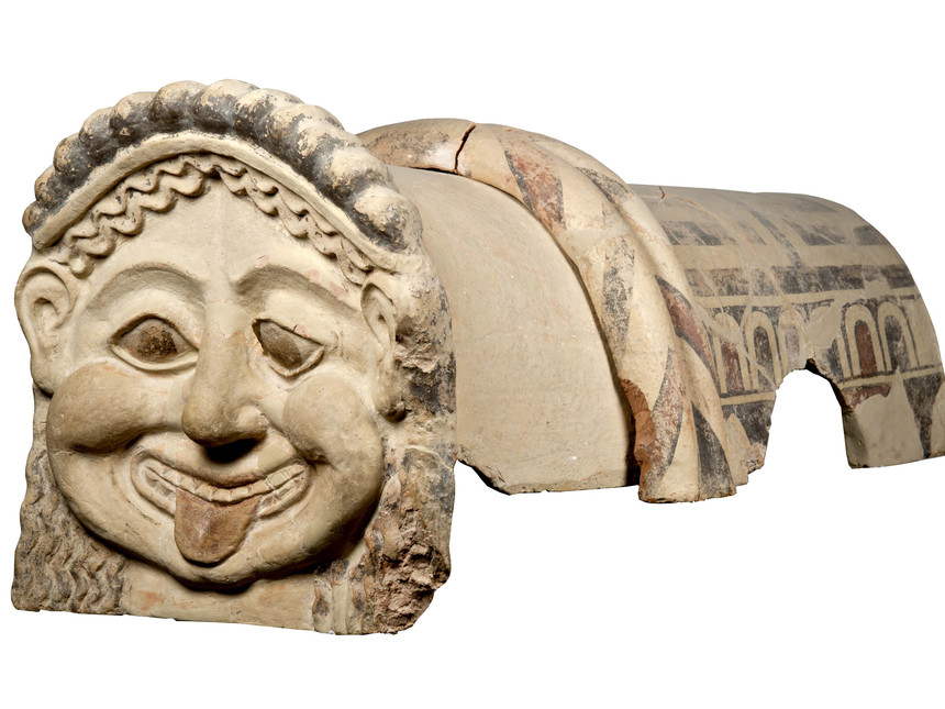 Gorgon-Antefix-Terracotta-roof-ornament-with-head-of-a-gorgon-Gela-Sicily-c-dot-500-BC-Museo