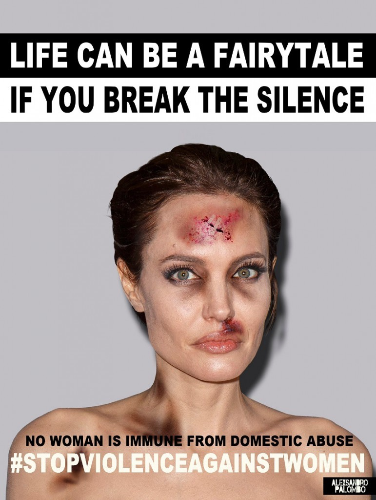 Angelina-Jolie-Life-Can-Be-A-Fairytale-BreakTheSilence-Contemporary-Art-Poster-Domestic-Violence-Women-Abuse-Social-Campaign-StopViolenceAgainstWomen-WomenRights-by-Artist-aleXsandro-Palombo-Web-771x1024