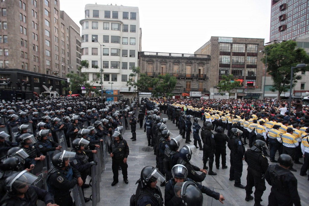 CNTE teachers' union demonstration in Mexico City